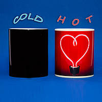 Чашка Сердце Лампочка ко Дню Влюбленных