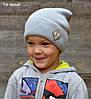 Стильная детская весенняя шапка