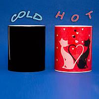 Чашка Влюбленные кошечки ко Дню Святого Валентина, фото 1