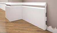 Плинтус под покраску Cezar Elegance LPC-24 белый матовый, фото 1