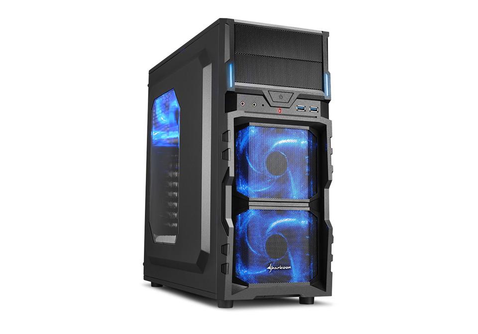 "Корпус Sharkoon VG5-W Blue ""Over-Stock"" Б/У"