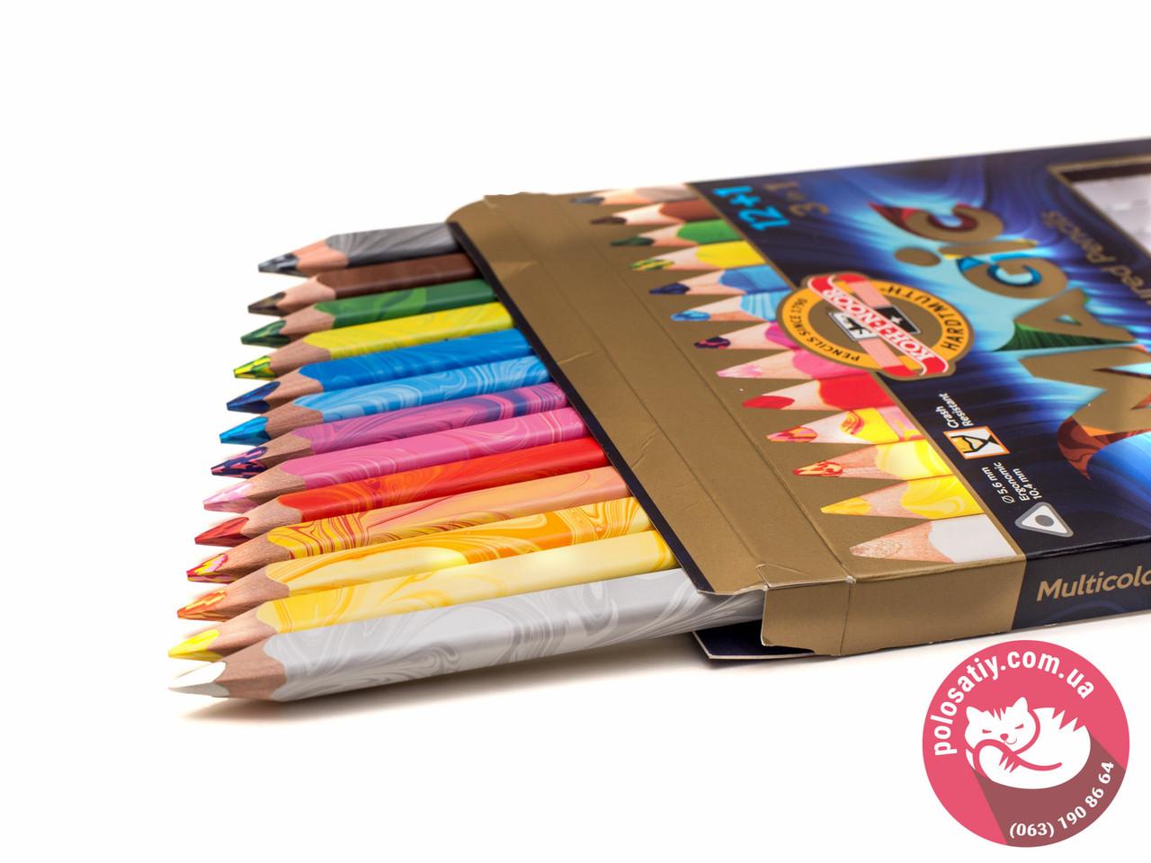 Карандаши цветные Koh-i-noor 13цв Magic подарочная упаковка 340801