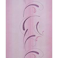 Акриловые обои на бумажной основе Слобожанские Рельефная Розовые 416-09