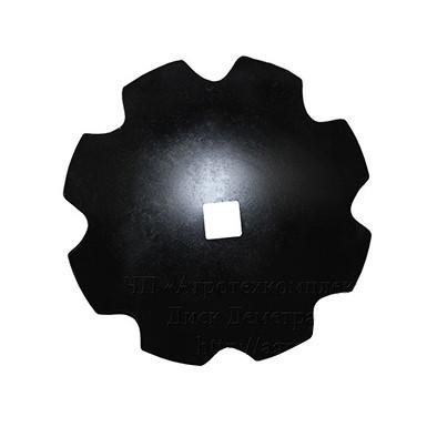 Диск бороны (ромашка) ДМТ (D=660мм, кв.70мм) (Бор) (Велес-Агро)