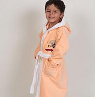 """Детский халат Petek хлопок """"Sponge Bob"""" с капюшоном - Турция Halat-d01"""
