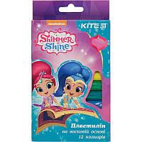 Пластилин мягкий, 12 цветов, Shimmer&Shine SH18-086