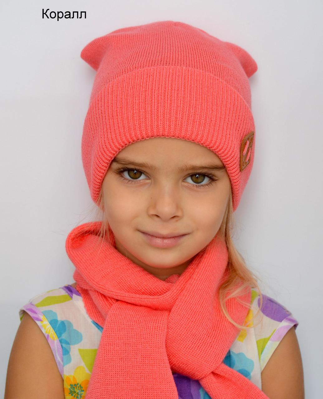 Детская подростковая шапка весенняя