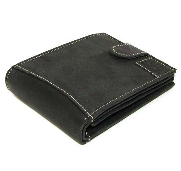 e0e91aae6dd5 Кожаный мужской кошелек портмоне Польша натуральная кожа N992L SC-H BLACK