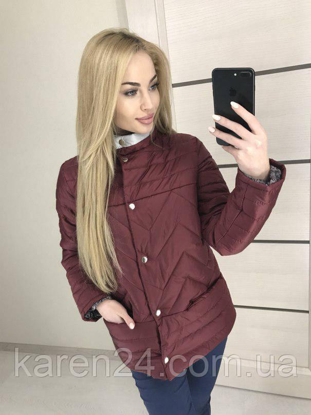 b61a75f7b79b Куртка женская демисезонная бордо , весна 2018 ! - Интернет-магазин