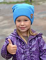 Вязаная подростковая весенняя шапка, фото 1