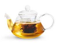 Чайник для заваривания чая Fissman 1000 мл со стальным фильтром (жаропрочное стекло)