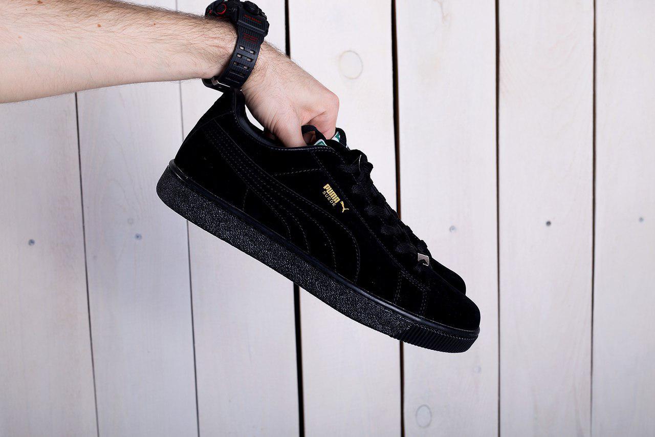 e0d9c436ffabb2 Мужские кроссовки Puma suede черные топ реплика - Интернет-магазин обуви и  одежды KedON в
