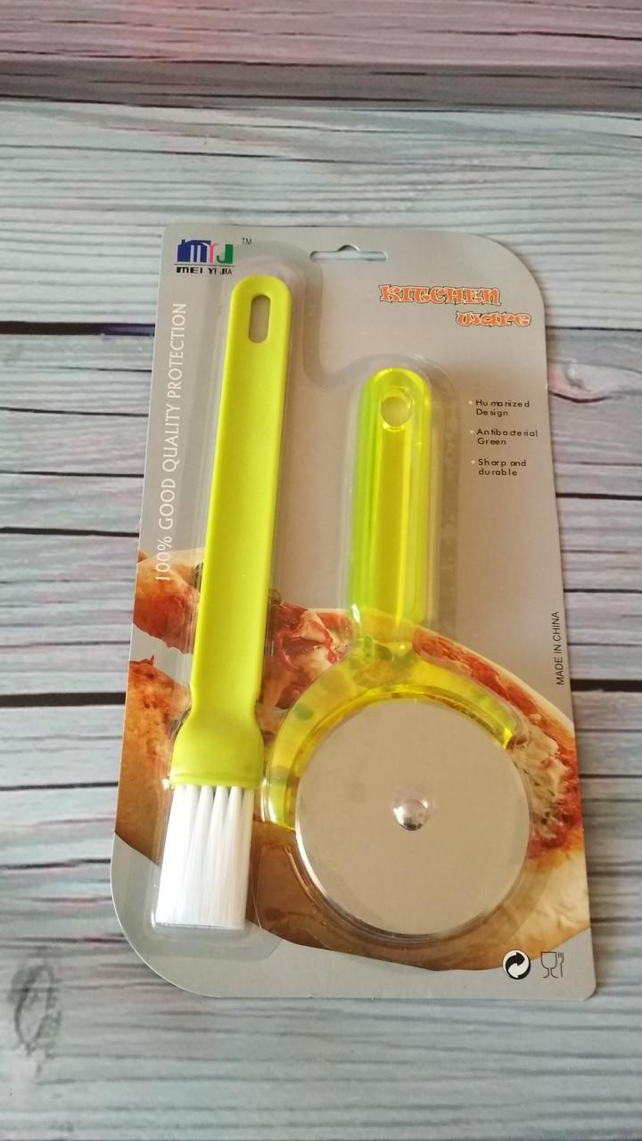 Кухонный набор кисть и нож для пиццы
