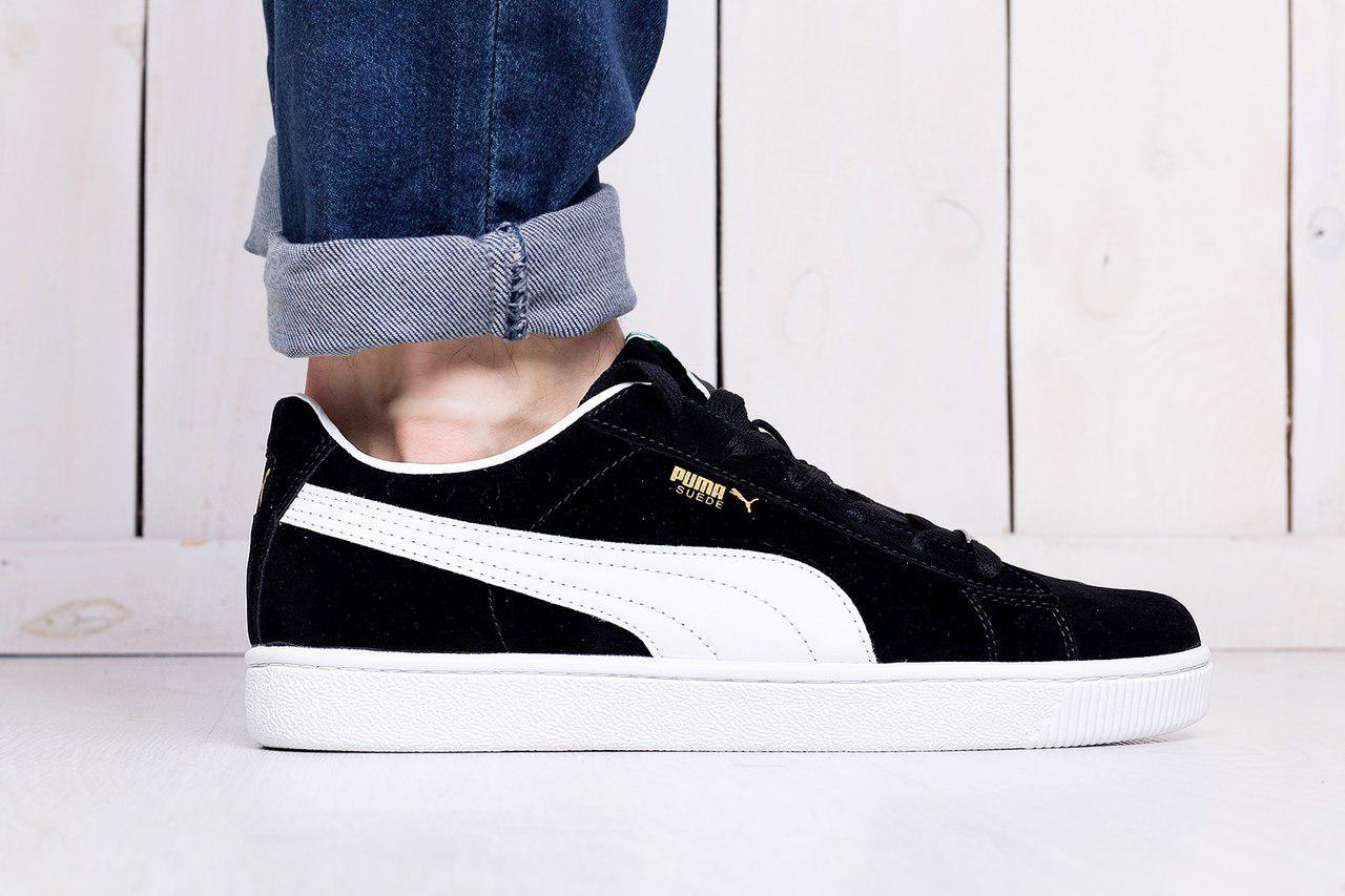 Мужские кроссовки Puma suede черно - белые топ реплика - Интернет-магазин  обуви и одежды 82ca7239efc