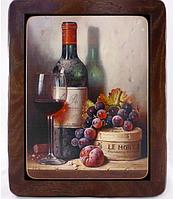 "Фреска Италия ""Вино"" 29х36 дерево"