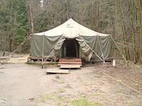 Палатка армейская УСТ-56, минимальное б/у с утеплителем