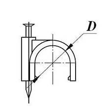 Скоба  кабельна кругла D6 mm білий, фото 2