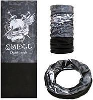 Зимняя мультиповязка (горловик) с флисом RockBros ZRTJ-3359 Skull Death knight