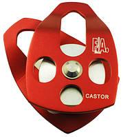 Блок-ролик одинарный с раздвижными щёчками First Ascent Castor 15 синий