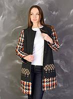 Вышитое женское кашемировое пальто Анета