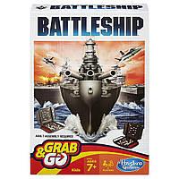 Hasbro Настольная игра Морской бой дорожная версия Battleship Grab and Go Game Travel Size, фото 1