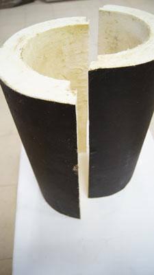 Сегменты теплоизоляционные для труб Ø 63/37 мм в покрытии из пергамина, фото 2