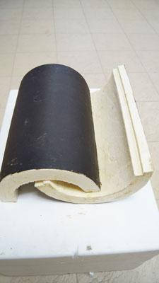Сегменты теплоизоляционные для труб Ø 159/40 мм в покрытии из пергамина, фото 2