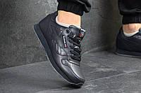 Повседневные мужские кроссовки Reebok Classic кожаные удобные однотонные кросовки в стиле рибок класик синие