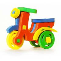 Развивающая и обучающая игрушка - Объемный конструктор Мотороллер