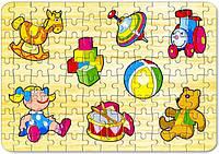 Развивающая и обучающая игрушка - Пазлы - ИГРУШКИ 2 (ПАРОВОЗ) (104 эл.)