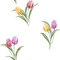Обои бумажные Континент Тюльпаны перламутровые 1089