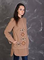Вышитое женское кашемировое пальто Звездная
