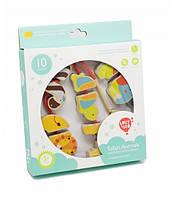 Развивающая и обучающая игрушка - Шнуровка - Бусы Сафари 5 дет.