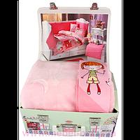 Набір HOBBY City Girl рожевий Комплект постельного белья дит. + плед 100x150