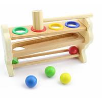 Развивающая и обучающая игрушка - Стучалка - Горка-шарики (Мал.)