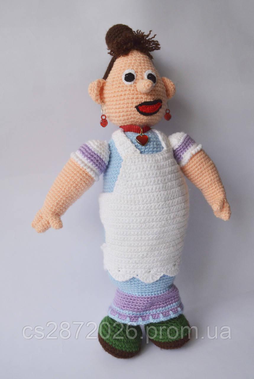 Домоправительница Фрекен Бок вязаная, игровая кукла