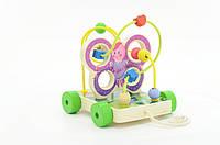 """Развивающая и обучающая игрушка - Лабиринт - каталка - """"Бабочка"""" - маленький"""