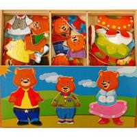 Развивающая и обучающая игрушка - Рамка-вкладыш - Набор мишек - 3
