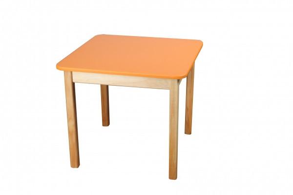 Стол деревянный  цветной оранжевый 023FP