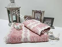 Бамбуковое полотенце с кружевом Maison D'or Vanessa 85х150см розовый