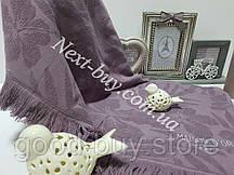 Maison D'or хлопковое полотенце для бани, сауны 85х150см темно-фиолетовый