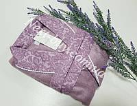 Женский халат бамбуковый Maison D`or Paris Rose Marine короткий фиолетовый