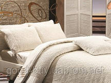 Постельное белье Maison D'or Queen 200x220см сатин с кружевом кремовый