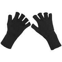 Перчатки вязаные без пальцев чёрные (M) MFH 15453A