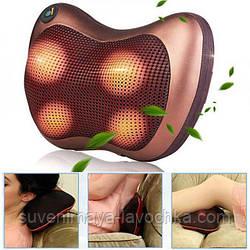 Роликовый массажер для спины и шеи (подушка)