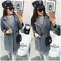 Женское пальто (42-44,44-46) — букле купить оптом и в Розницу в одессе  7км