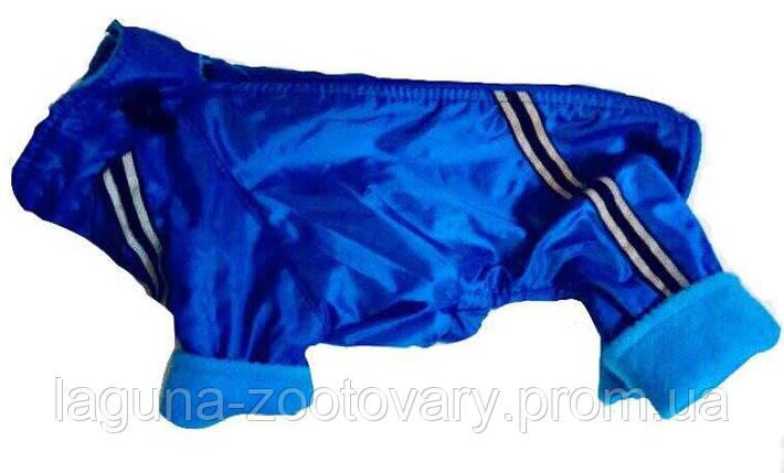 Комбинезон №0 25/40см для собак, утепленный, флис, зеленый, фото 2