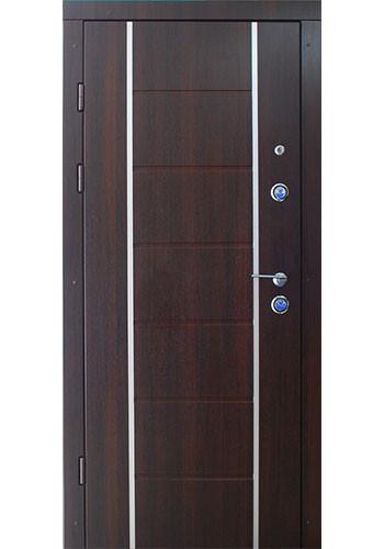 Двери входные Булат-двери Рисунок 502 алюминиевый молдинг