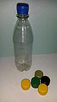 Пластиковая ПЕТ тара, бутылка 0,5л. (прозрачная)