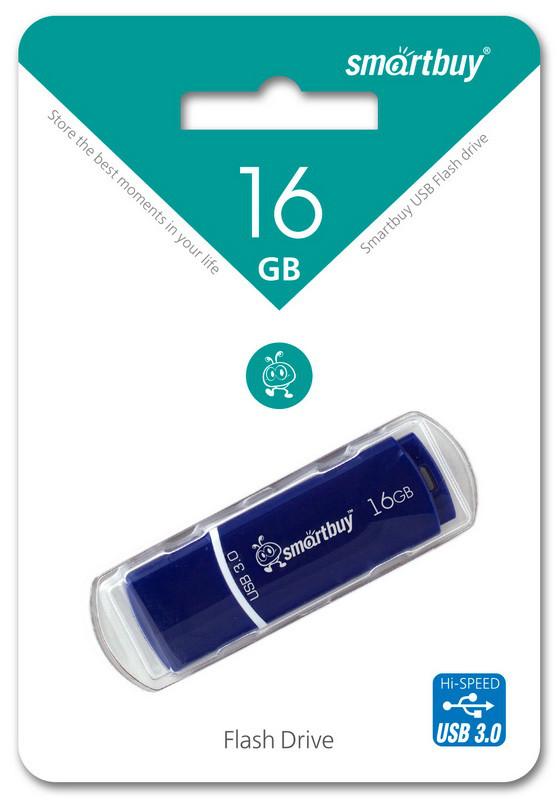 Флешка 3.0 Smartbuy 16GB Crown Blue (SB16GBCRW-Bl)